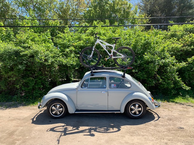 1965 beetle rack bike carrying mountain bike