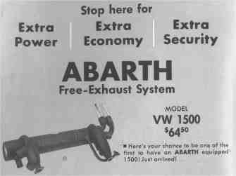 advertising 60's abarth exaust